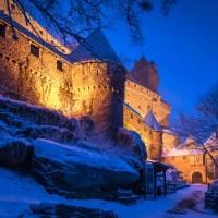 Autour du château du Haut-Koenigsbourg sous la neige…