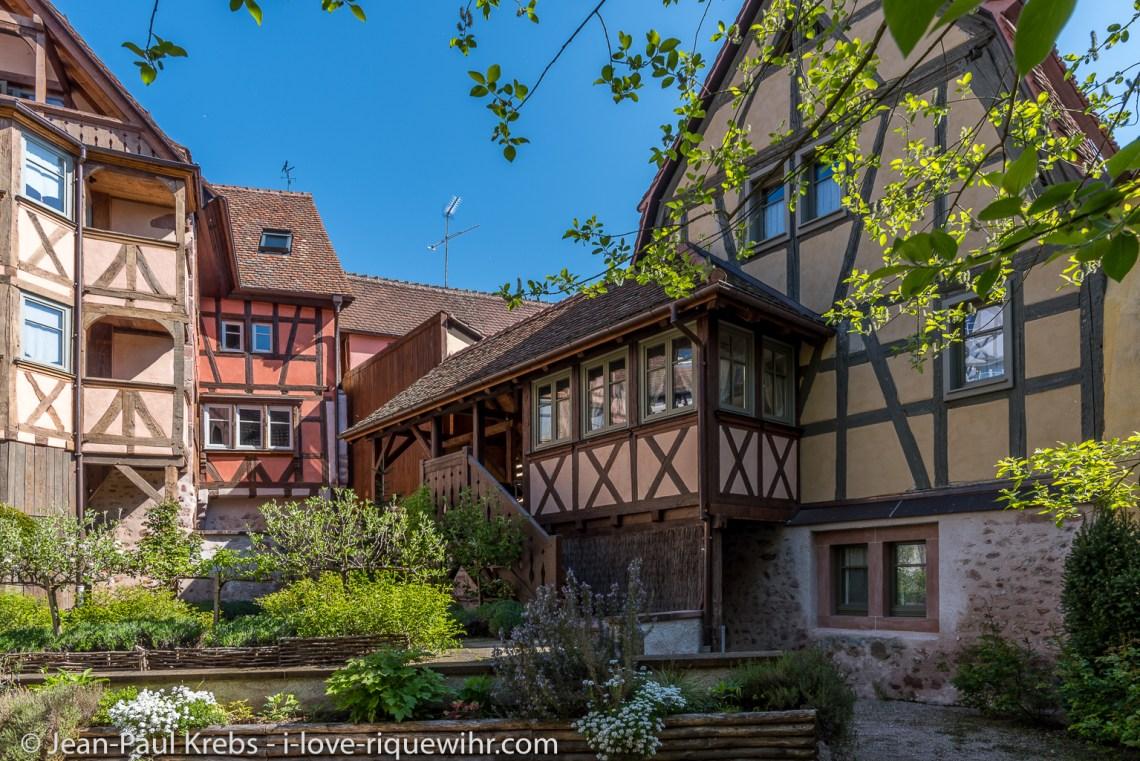 le rempart de 1291 vu du jardin.