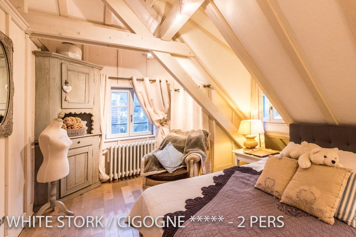 La Cigogne à riquewihr - appartement 5 étoiles vue sur la chambre