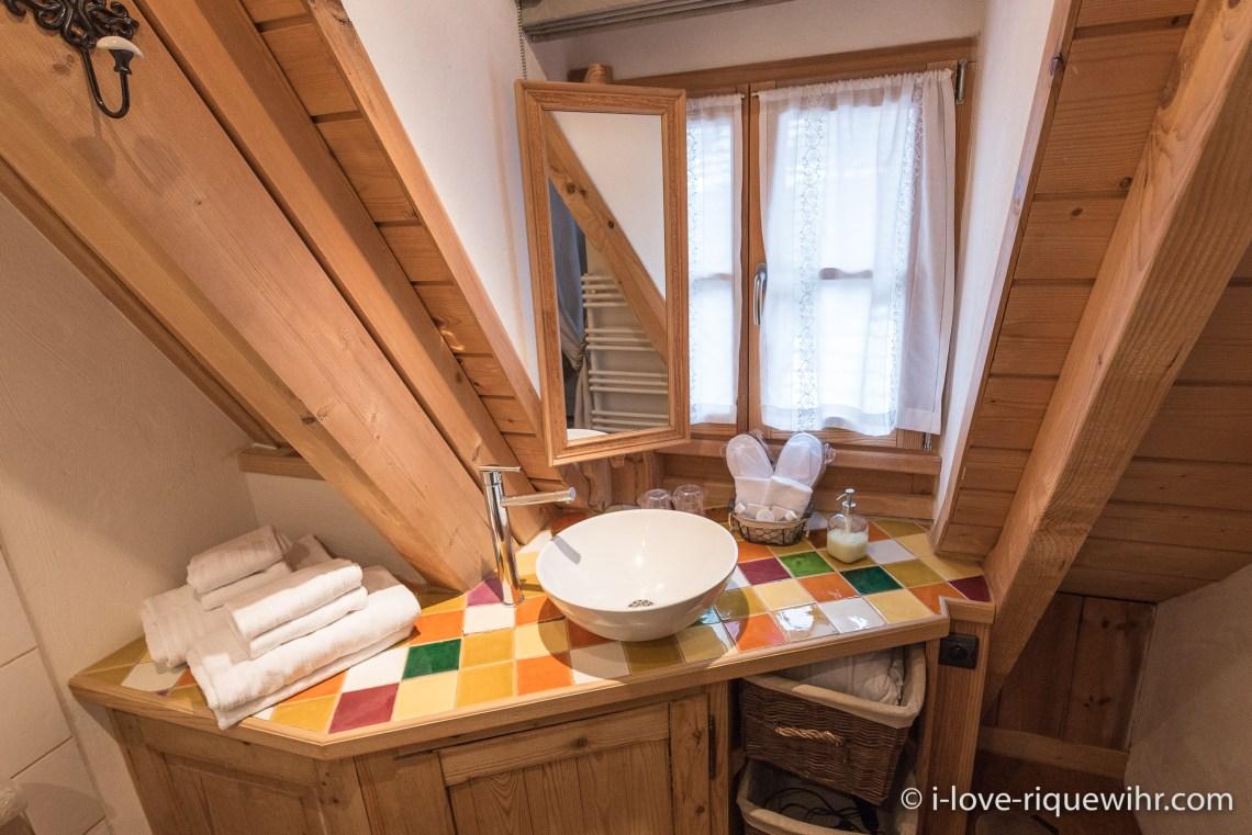 La Colombier à riquewihr - appartement 5 étoiles la salle de bain