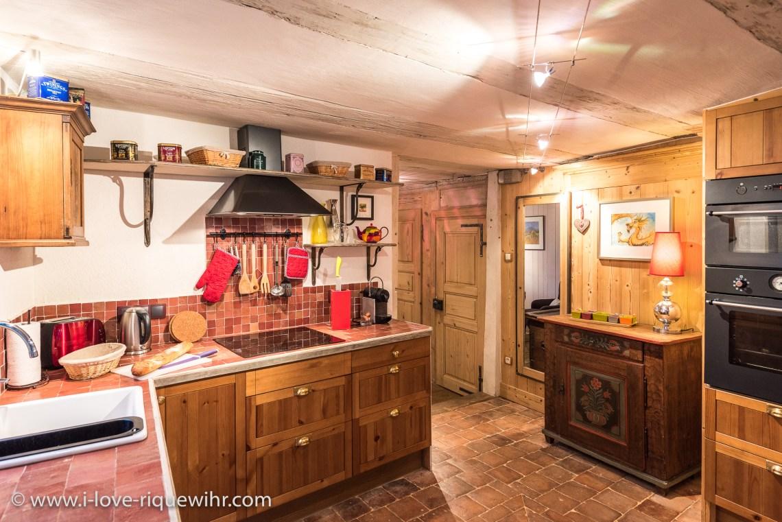 Le Dragon à riquewihr - appartement 5 étoiles la cuisine
