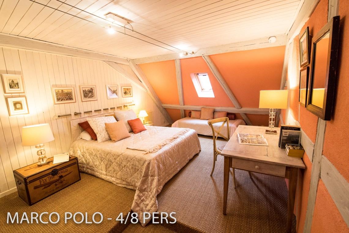 Le Marco Polo à riquewihr - appartement 5 étoiles la chambre