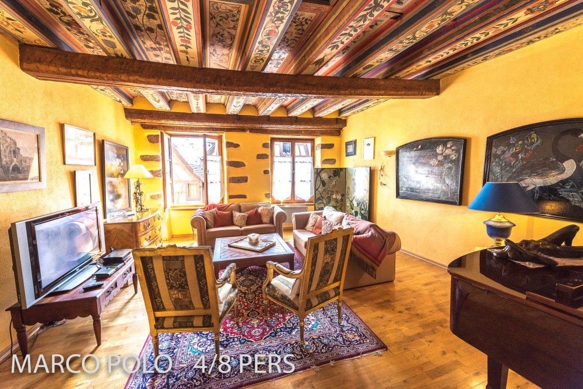 Le Marco Polo à riquewihr - appartement 5 étoiles le salon