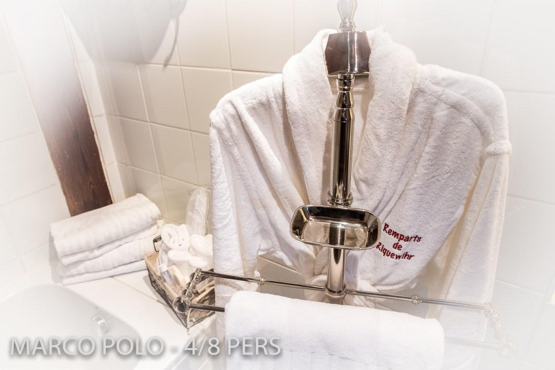 Le Marco Polo à riquewihr - appartement 5 étoiles la salle de bain