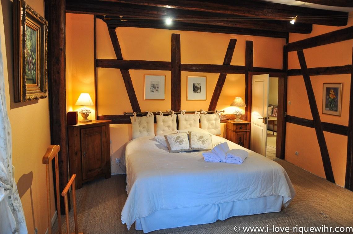 Le Riesling à riquewihr - appartement 5 étoiles vue sur la chambre