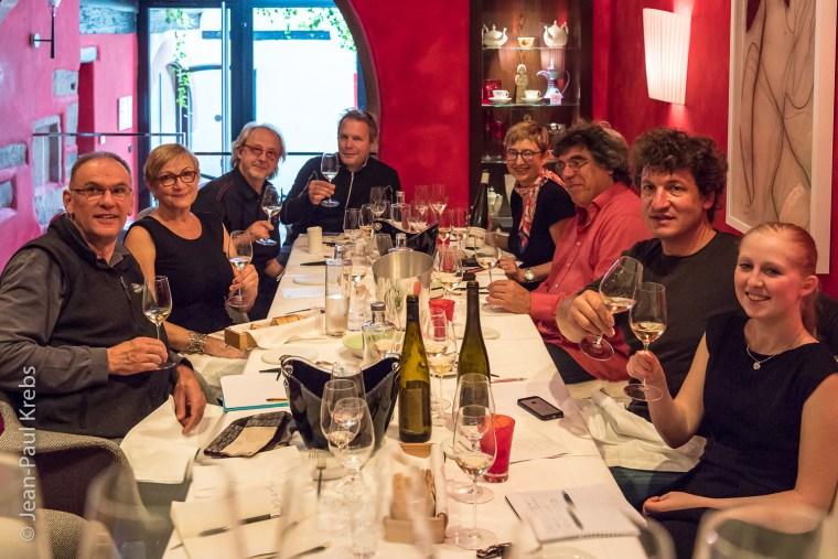 Marathon gastronomique et dégustation comparative au restaurant étoilé Michelin la Table du Gourmet à Riquewihr.