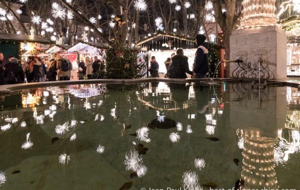 La forêt enchantée du marché de Noël de Bâle.