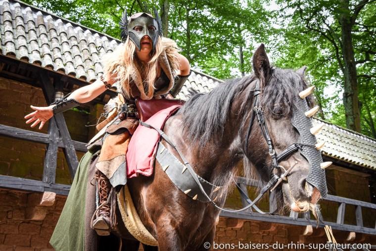 La valkyrie nous conte ses aventures et ses combats