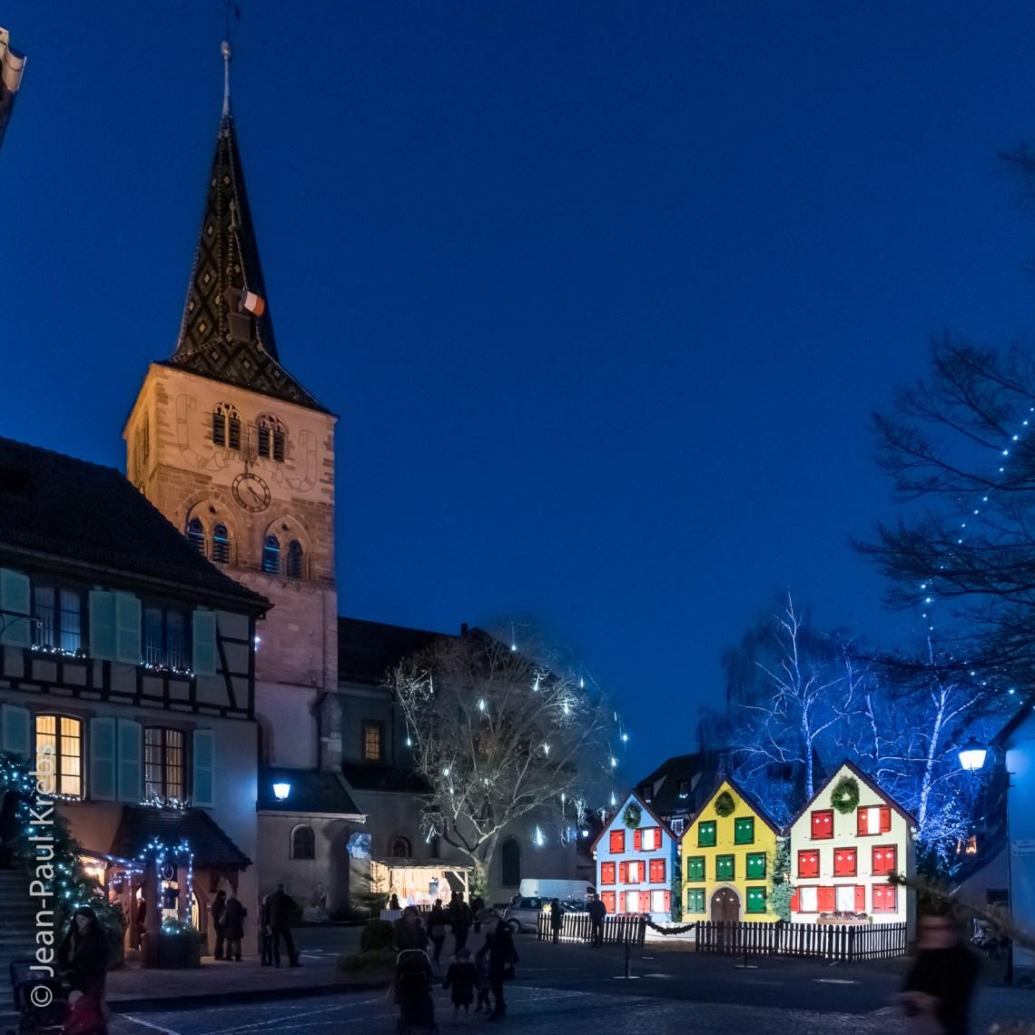 La charmante ville de Turckheim en habit de Noël.