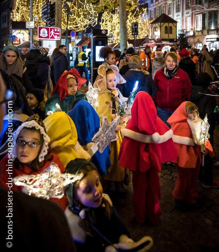 Inauguration du marché de Noël à Colmar. 22 novembre 2019.