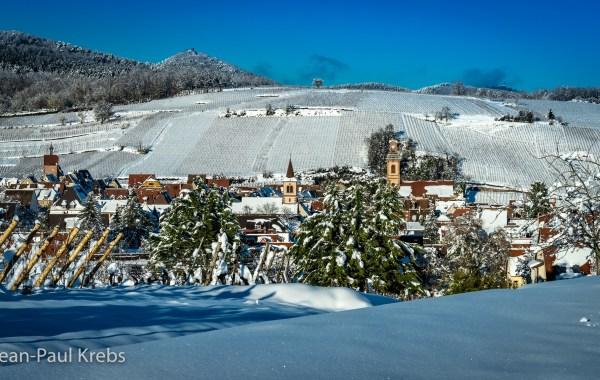 Riquewihr sous la neige le 16 Janvier 2021. Nous n'avions pas vu ça depuis très longtemps.