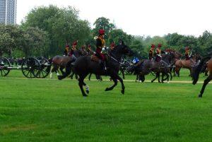 chevaux au galop hyde park