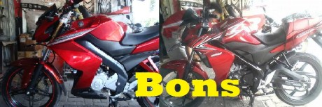 Duo Merah, CB 150 R Ala Z 250 Merah vs New V-ixion Ala Z 250 Merah,