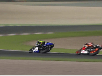 Rossi vs Marquez in Qatar