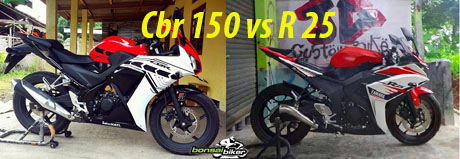 CBR 150 Lokal vs R 25 copy
