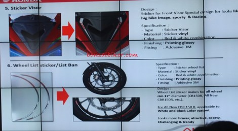 Accesories New CBR150 2016-sticker-visor