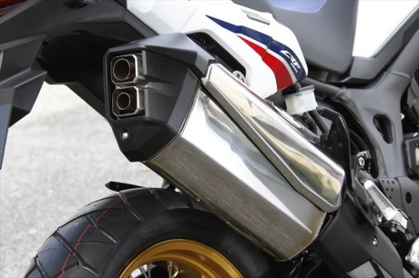 Honda africa twin exhaust crf1000l muffler bike