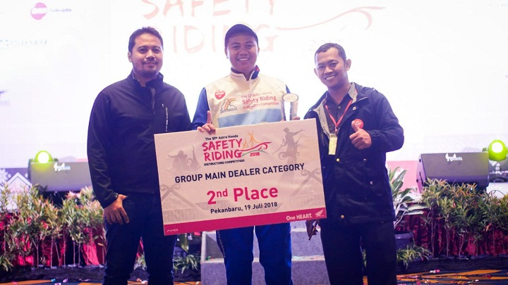 Pemenang the 12th Astra Honda Safety Riding Instructor Competition (AH-SRIC) 2018