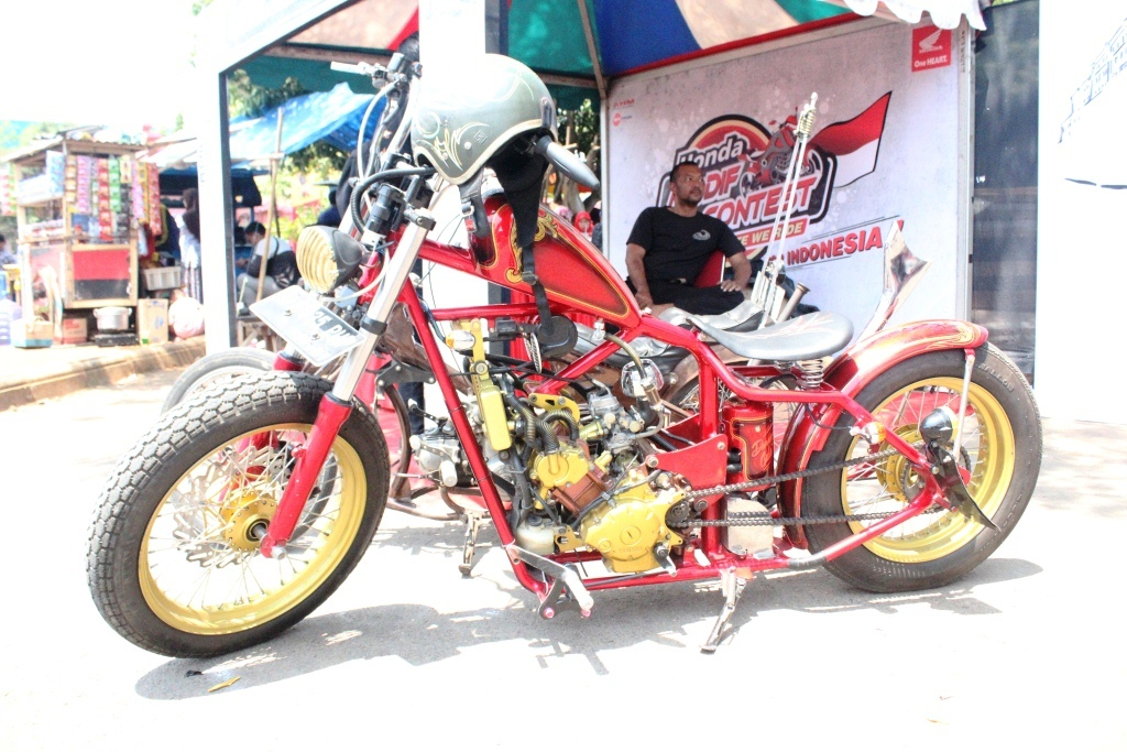 Yamaha Jupiter Mx 135 Modif Chopper Kang Bona Bonsaibiker
