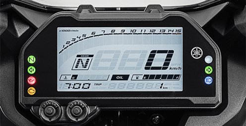 speedometer New Yamaha YZF-R25 2019 Face Lift