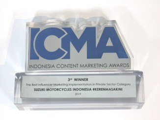 Suzuki Sabet 3rd Best Influencer Marketing Award di ICMA 2019
