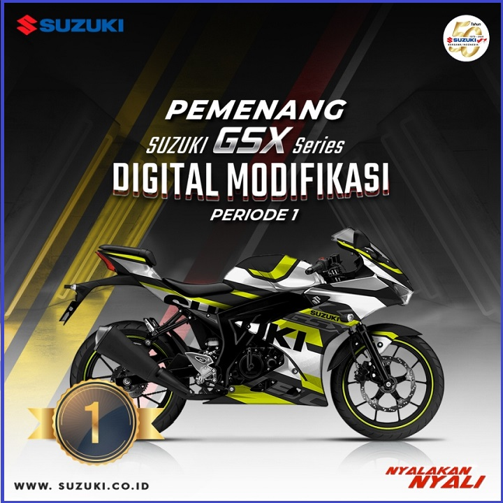 Juara 1 Suzuki GSX Series Digital Modifikasi Periode 1