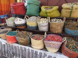 Marrakech spice market, vegetable tagine