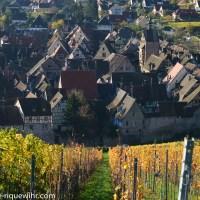 Paysages d'automne le long de la Route des Vins d'Alsace – petite galerie de photos