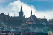 Pignons et toits de maisons Renaissance à Mittelbergheim