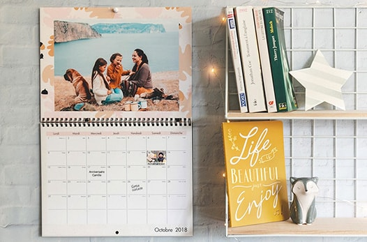 Un calendrier photos à 3.99€