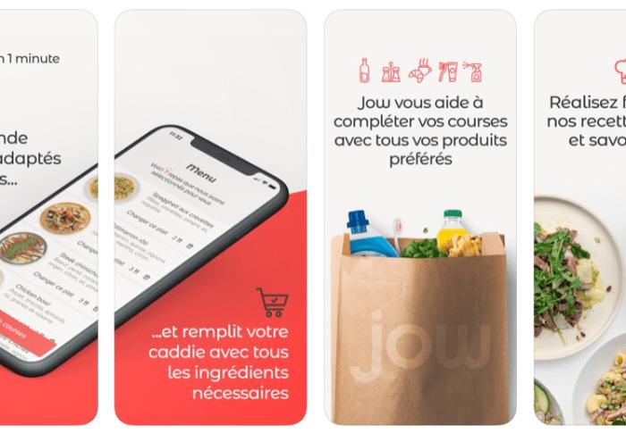 Jow : courses et recettes sur une appli