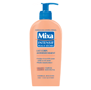 Test lait corps antidessèchement de Mixa