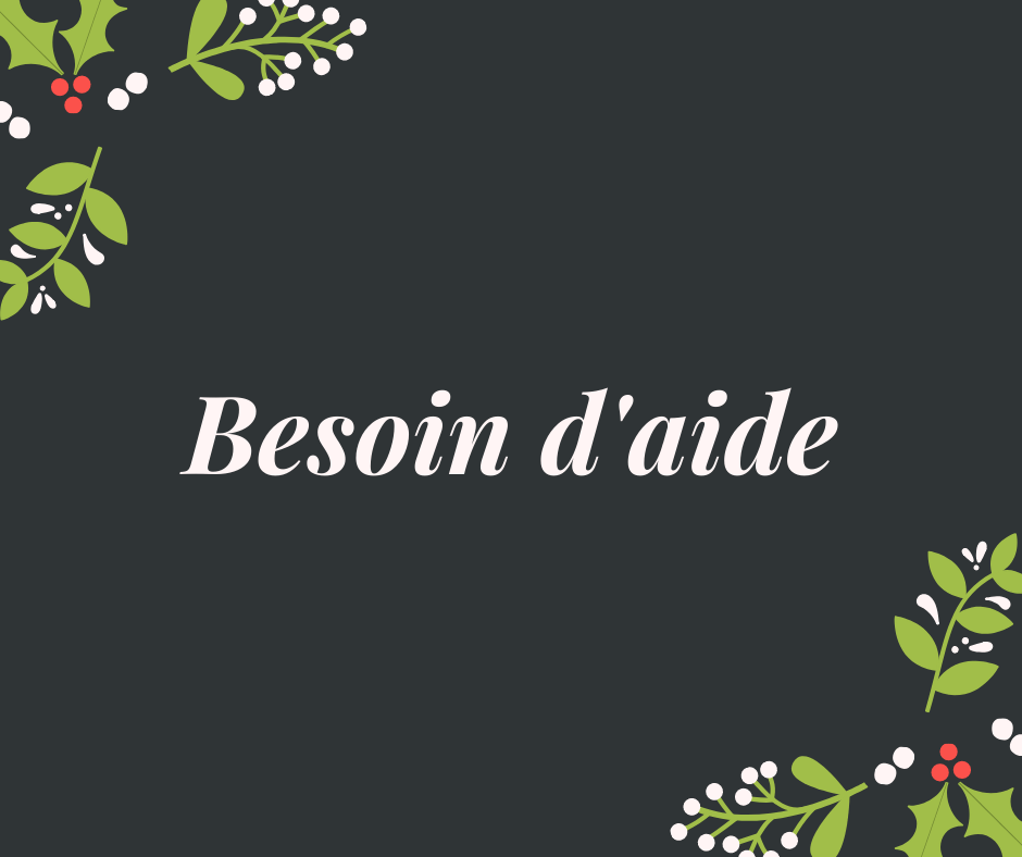 You are currently viewing Besoin d'aide