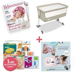 Jeu concours : un lit cododo à gagner pour bien dormir avec bébé !