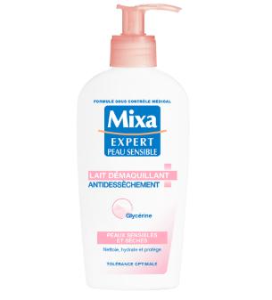 Test lait démaquillant antidessèchement de Mixa