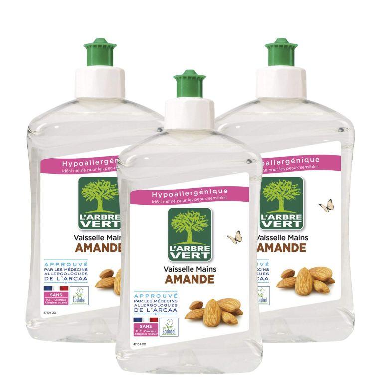 Read more about the article Lot de 3  liquide vaisselle L'Arbre Vert Amande – 500 ml à 3.78€