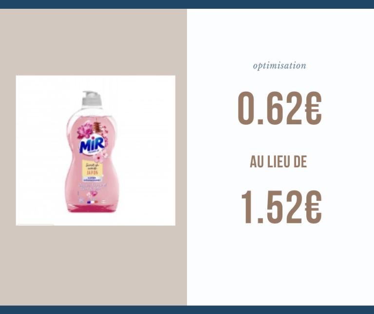 Read more about the article Optimisation du jour : Mir vaisselle