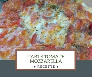 Tarte tomates mozzarella jambon