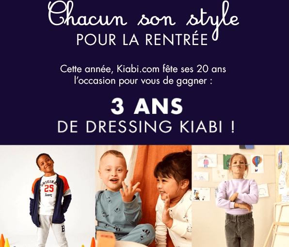 Read more about the article Concours : Jeu rentrée des classes 2020 avec Kiabi