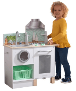 KidKraft – Cuisine et buanderie en bois enfant Whisk & Wash à 49.99€