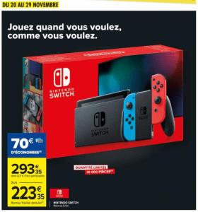 Bon plan Switch : 223.35€ chez Carrefour