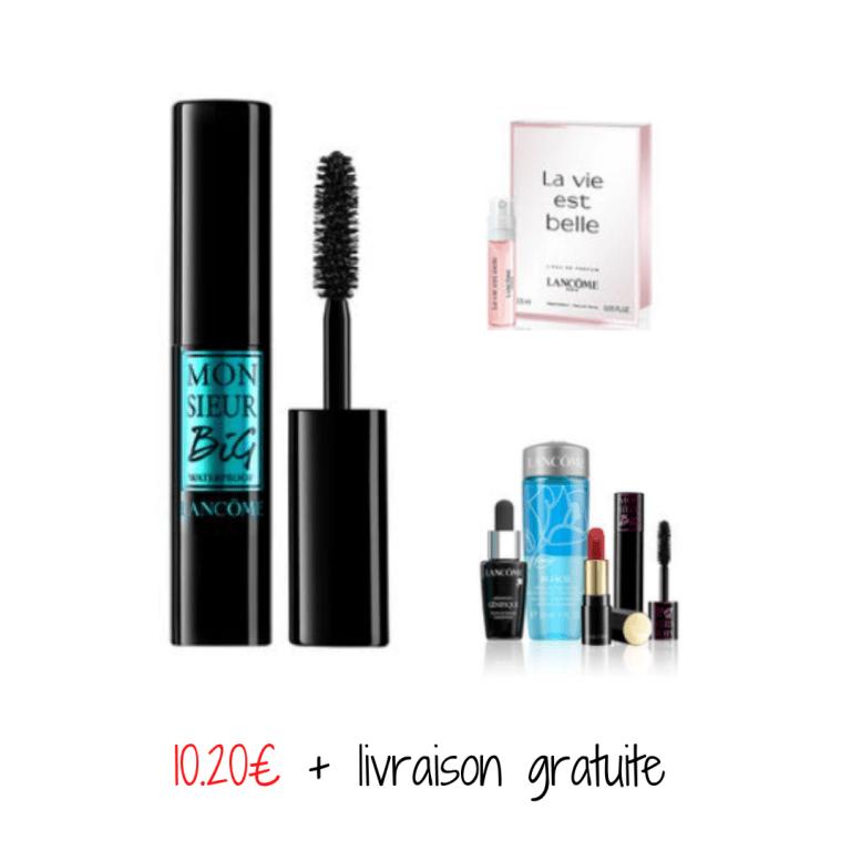 Read more about the article Bon plan Lancôme : un mascara  + un coffret de 4 miniatures + échantillon la vie est belle + livraison gratuite  pour 10.20€