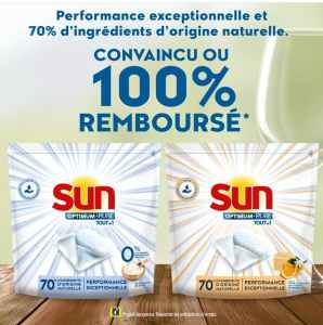 Sun capsules : offre convaincu ou remboursé jusqu'au 30/12/2020