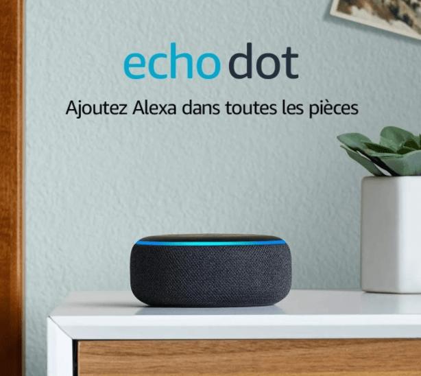 Méga bon plan sur l'Echo Dot : 14.99€ + livraison gratuite