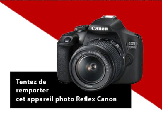 Concours du 15 février 2021 :  1 appareil photo Reflex Canon d'une valeur de 400€ à gagner