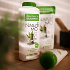 Test  Shampooing,  Crème de douche et  Éco-recharge Naturé Moi