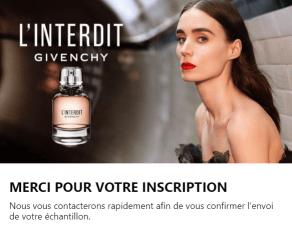 Echantillon L'Interdit Eau de Parfum.