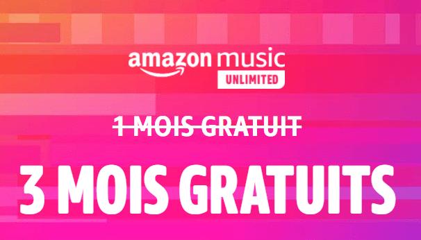 Amazon Music gratuit pendant 3 mois sans engagement