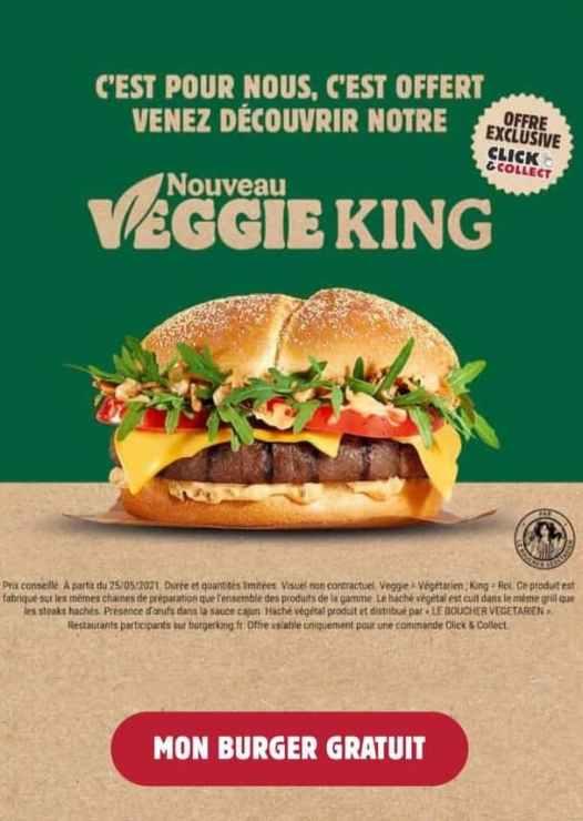 Nouveau Veggie King gratuit