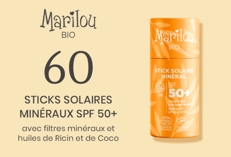 You are currently viewing Test gratuit : Stick Solaire Minéral SPF50+ Marilou Bio